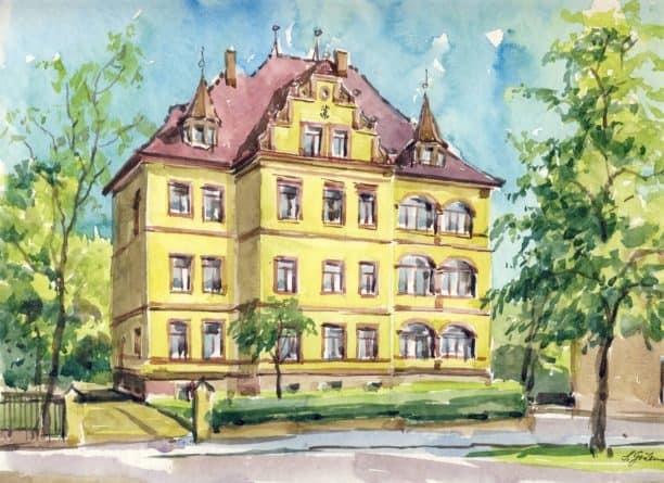 Aquarell der Villa doc Grimma - Steffen Gröbner